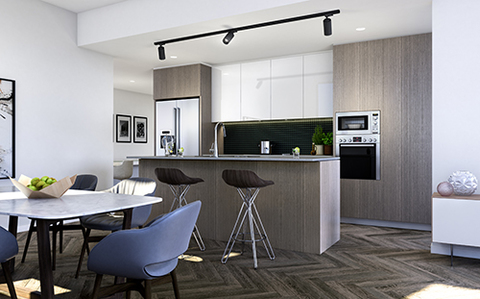 Art Series Scheme Dining Room | Arthouse Apartments Joondalup