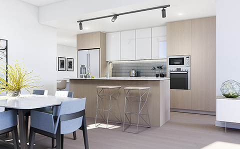 Radiance Scheme Dining Room | Arthouse Apartments Joondalup